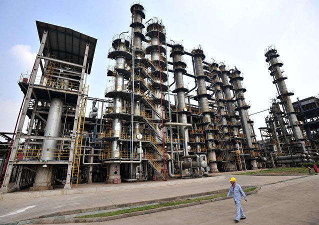 La raffinerie de pétrole chinoise
