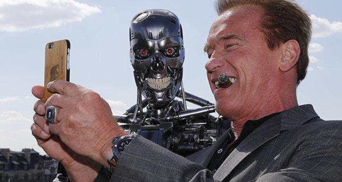selfie de Schwarzenegger