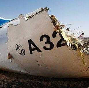 Le lieu du crash du vol 9268 en Egypte