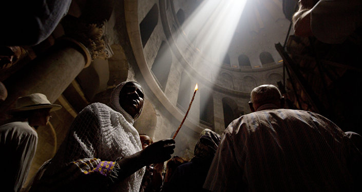 l'église du Saint Sépulcre à Jérusalem