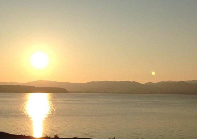 Couché de soleil sur Vladivostok