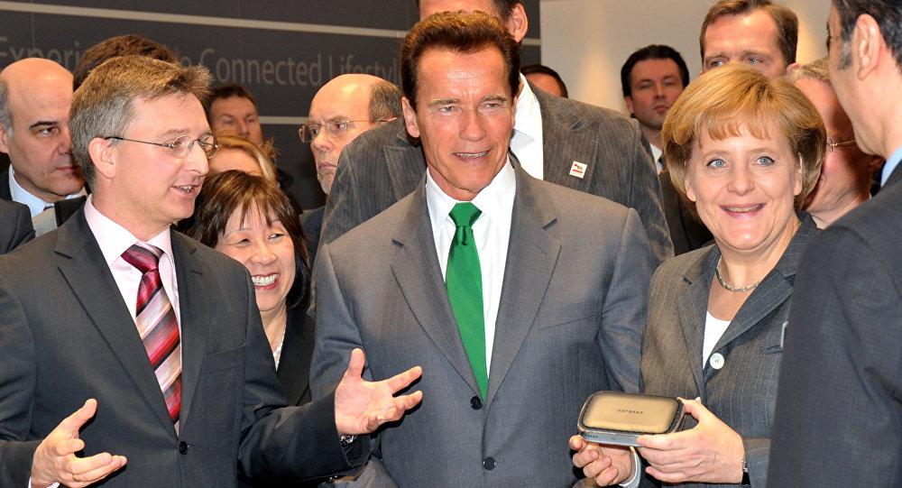 Arnold Schwarzenegger et Angela Merkel