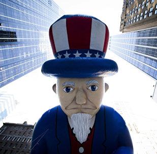 Uncle Sam in der Wall Street