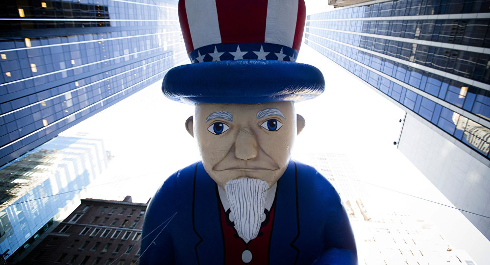 Uncle Sam in der Wall Street