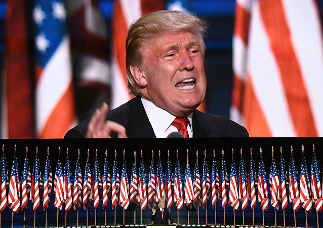 This file photo taken on July 21, 2016 shows US Republican presidential candidate Donald Trump speaks on the last day of the Republican National Convention in Cleveland, Ohio. Donald Trump said on November 9, 2016 he would bind the nation's deep wounds and be a president for all Americans, as he praised his defeated rival Hillary Clinton.