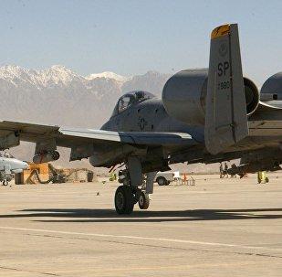 Un A-10 Thunderbolt II sur la base aérienne de Bagram
