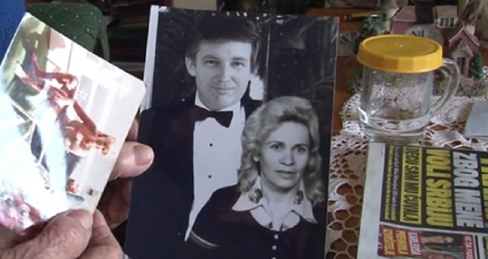 Donald Trump et Milka Milisavljević sur une photo d'archive