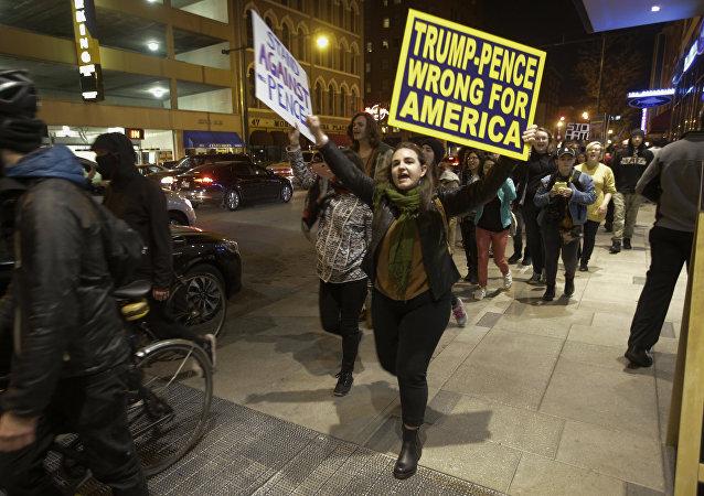 Protestations aux États-Unis.