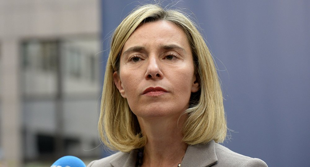 Image result for caricature of Federica Mogherini