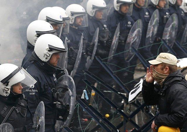 manifestation des militaires à Bruxelles