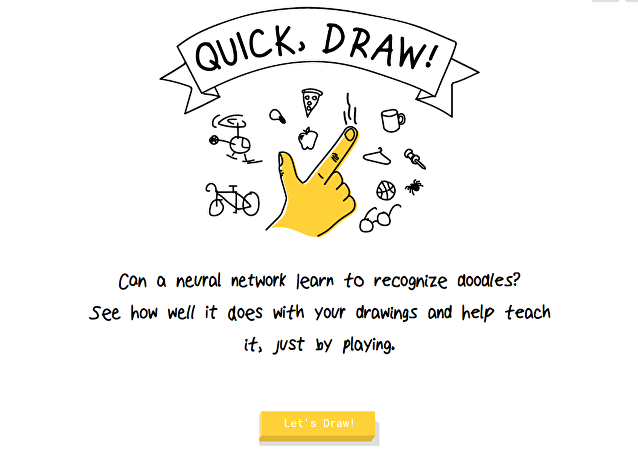 Le jeu interactif de Google Quick Draw