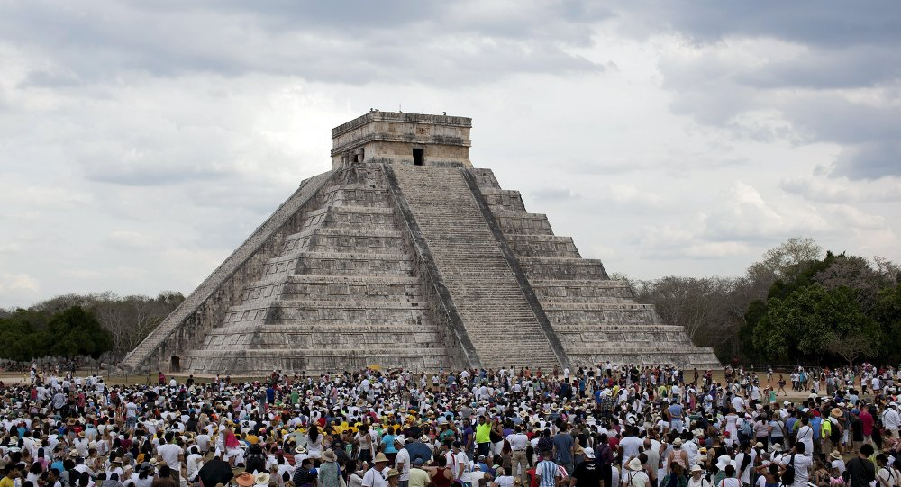 Sur le site archéologique de Chichen Itza dans la péninsule du Yucatan