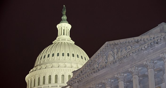 The United States Capitol dome is to the left of the United States Senate, on Capitol Hill Wednesday, Feb. 27, 2013