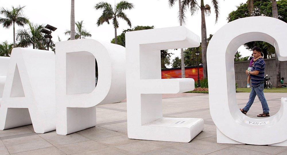 APEC, logo.Archive photo