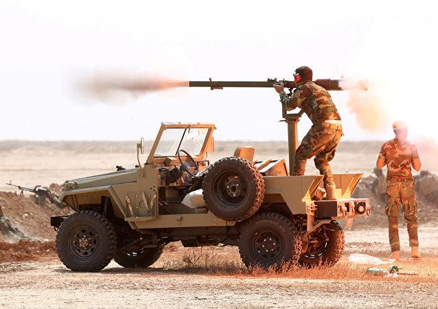 Les milices chiites près de Mossoul