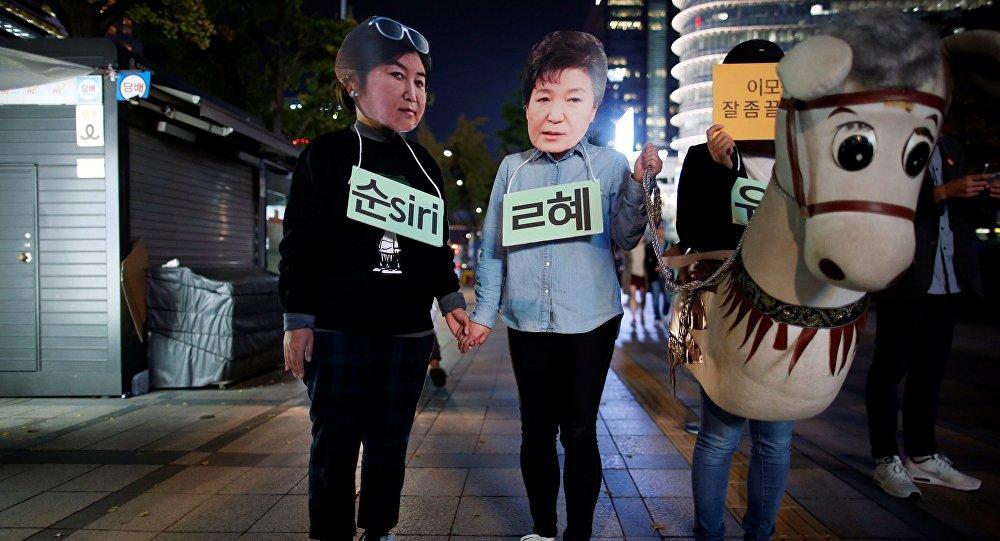 Manifestations contre la présidente sud-coréenne Park Geun-hye