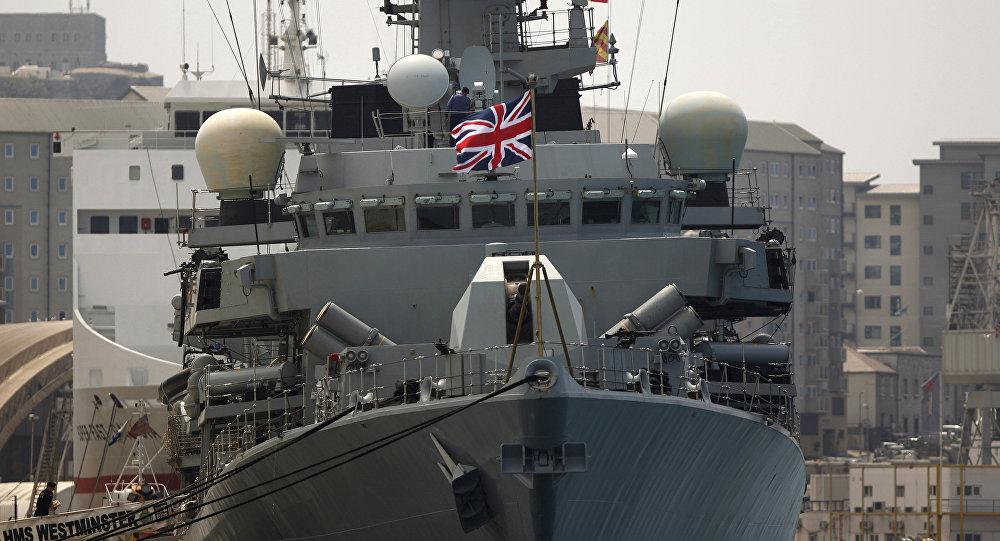 HMS Westminster, le navire de la marine britannique à Gibraltar, le 19 août 2013