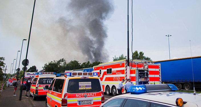 L'incendie à Düsseldorf