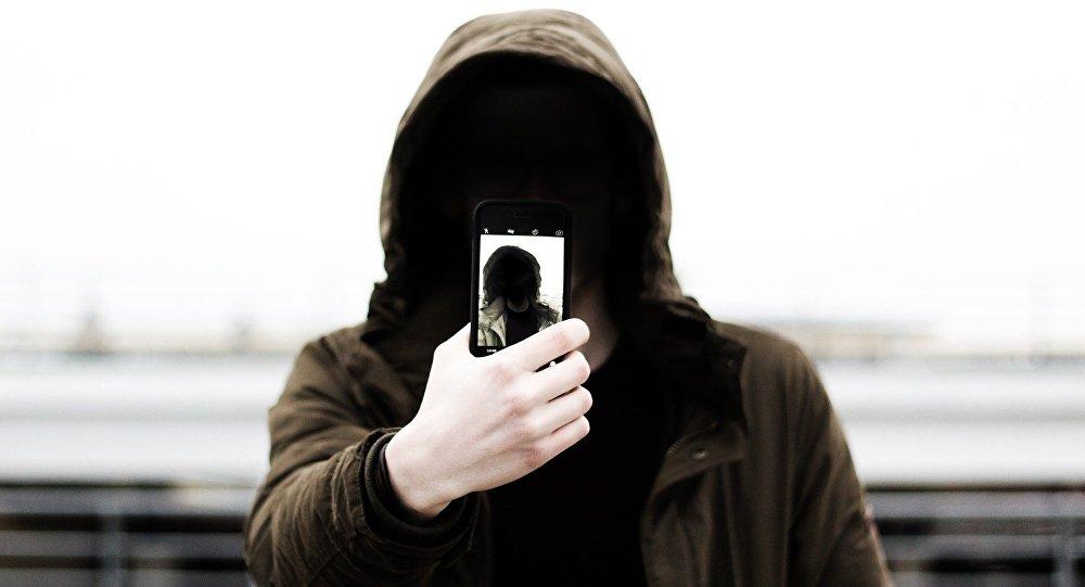 Un utilisateur de téléphone mobile