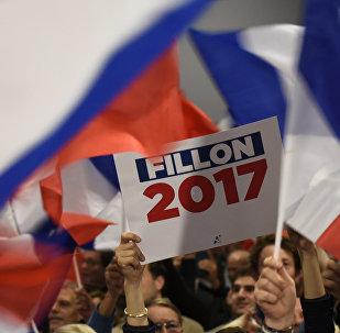 Manifestation de soutien à François Fillon, candidat à la présidence 2017