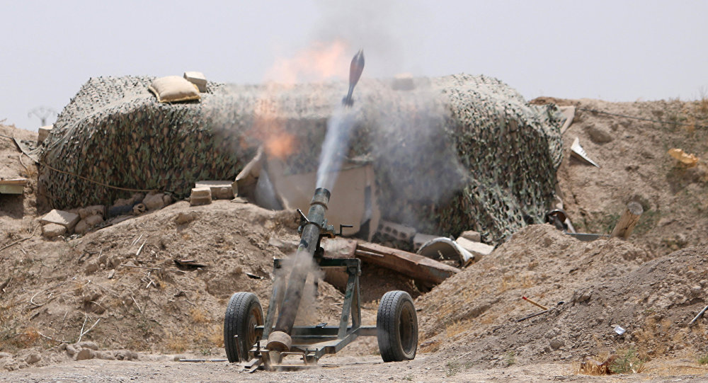 Un combattants des FDS près de Raqqa