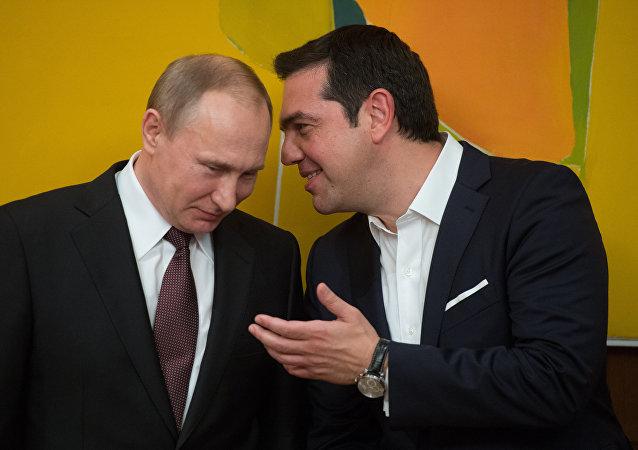 Vladimir Poutine et Alexis Tsipras. Archive photo