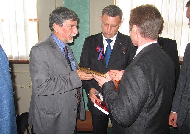 La réunion de la délégation italienne avec le président de la DNR Alexander Zakharchenko