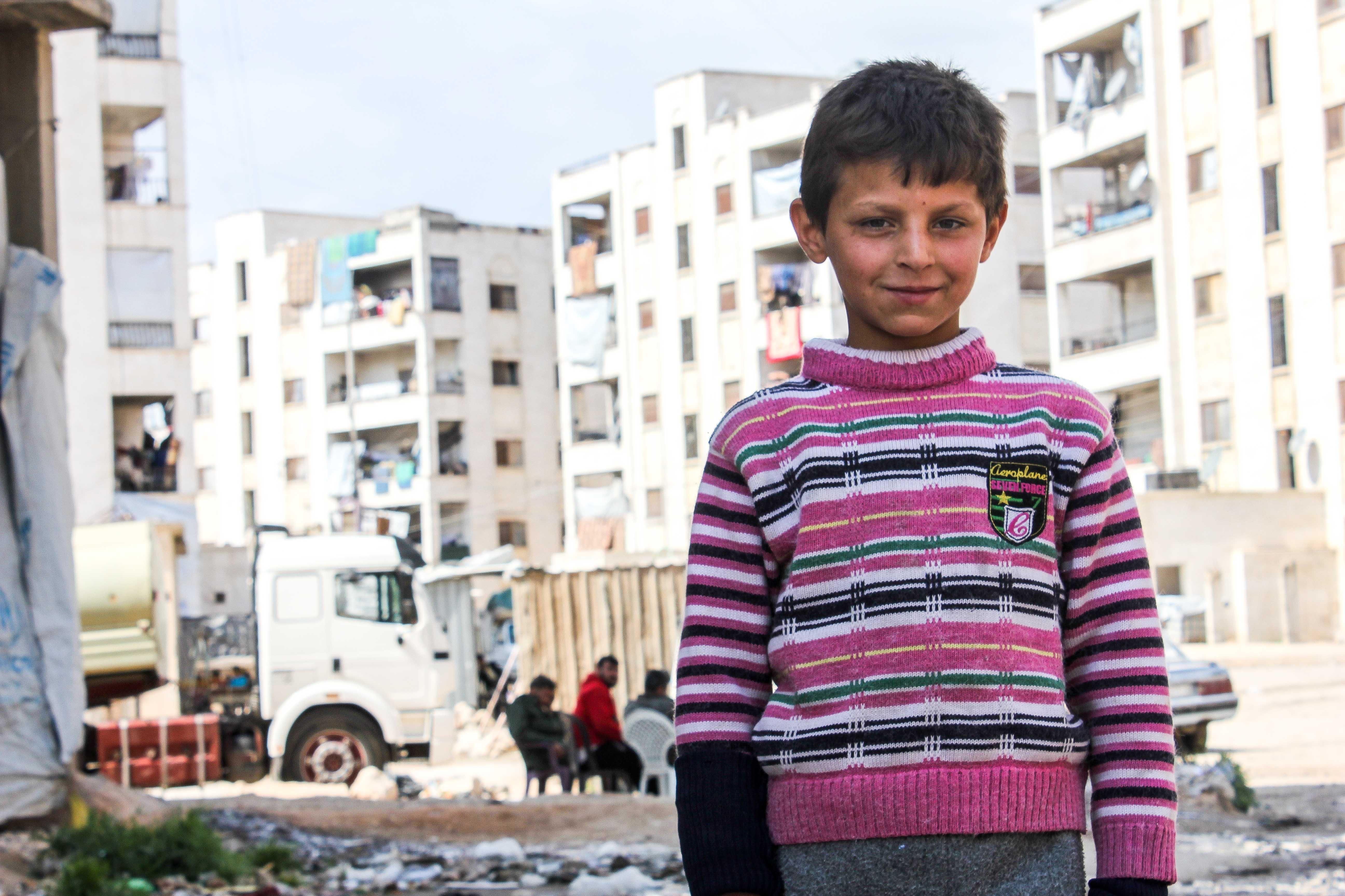 Un garçon syrien à Alep