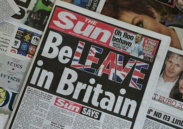 La Une du tabloïde The Sun