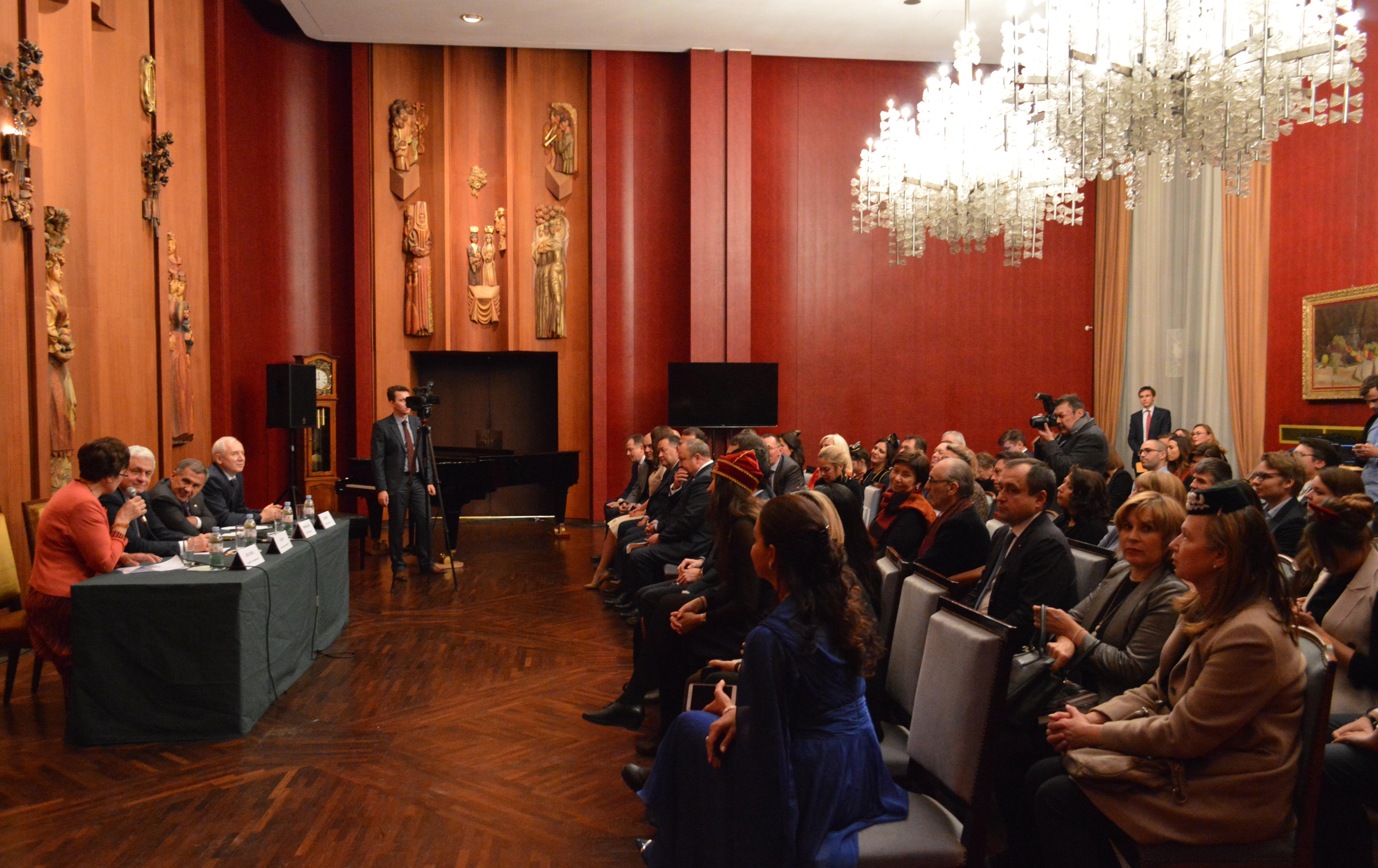 Visite du président Roustam Minnikhanov à Paris
