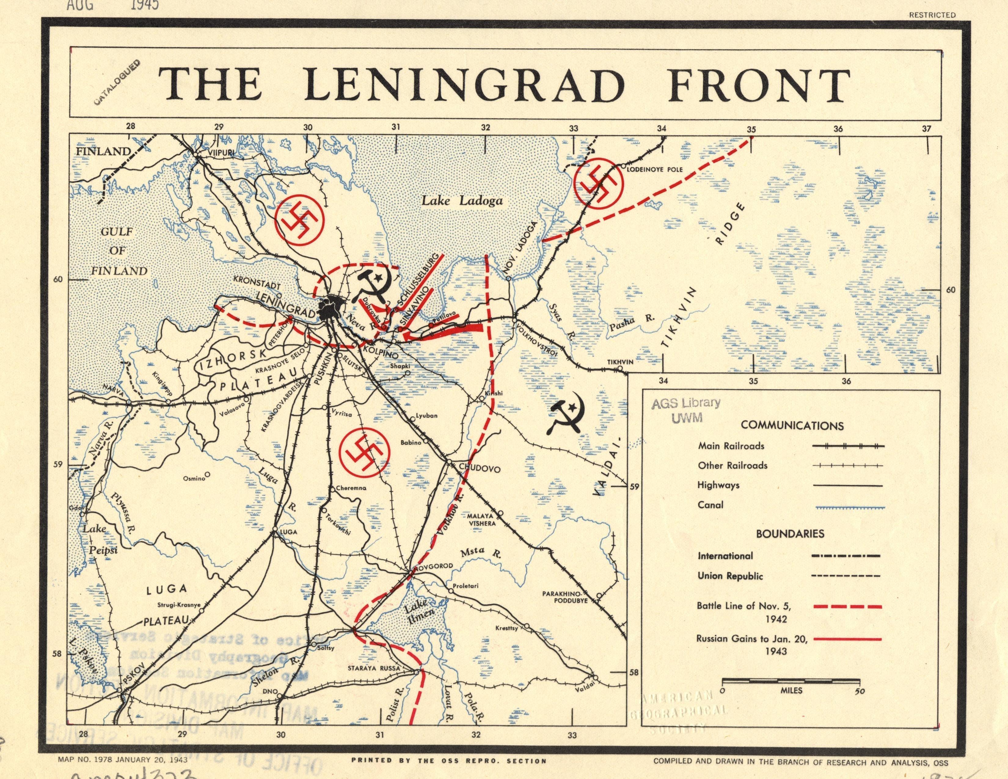 Le Front de Leningrad, 1943