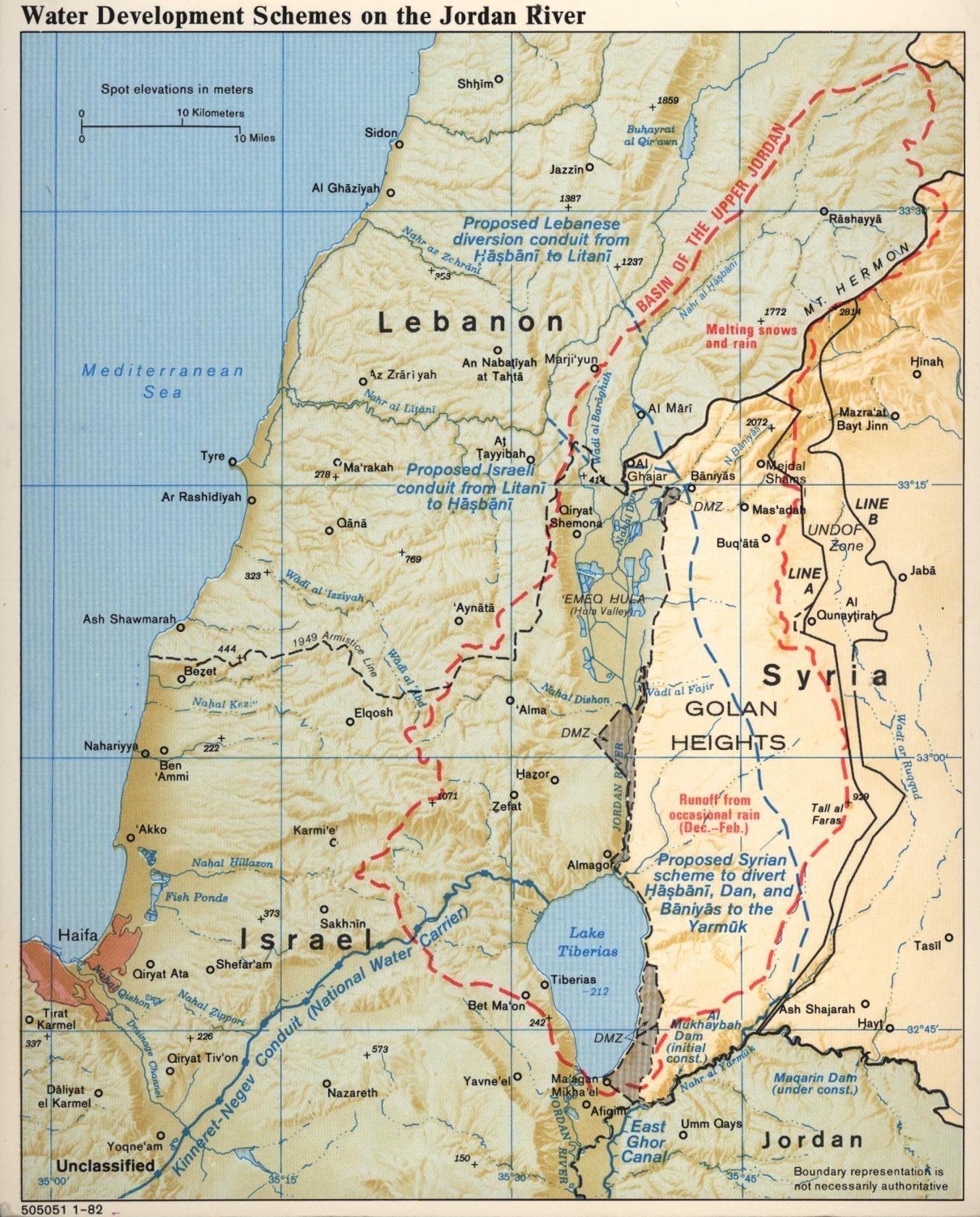 Les ressources aquatiques en Jordanie, 1982