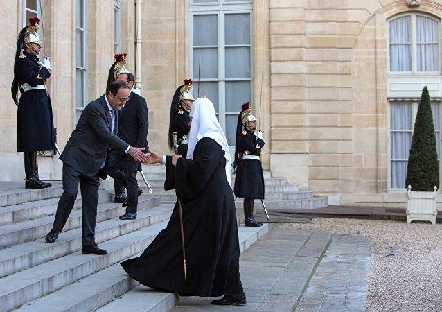 Le Patriarche de Moscou Cyrille reçu à l'Élysée