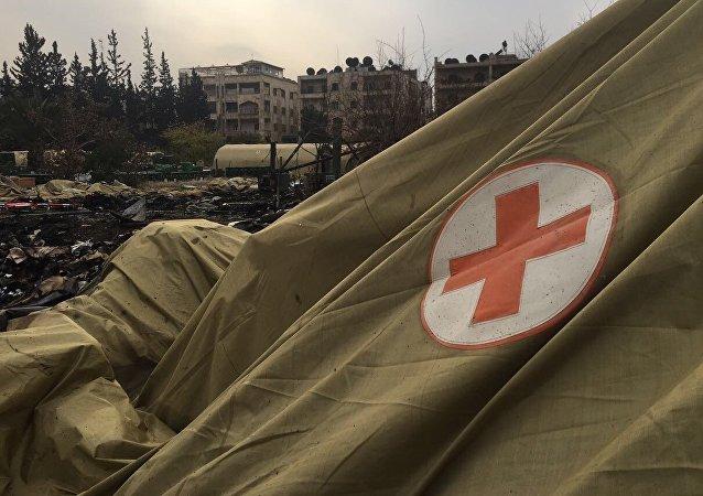 L'hôpital mobile russe à Alep après le bombardement