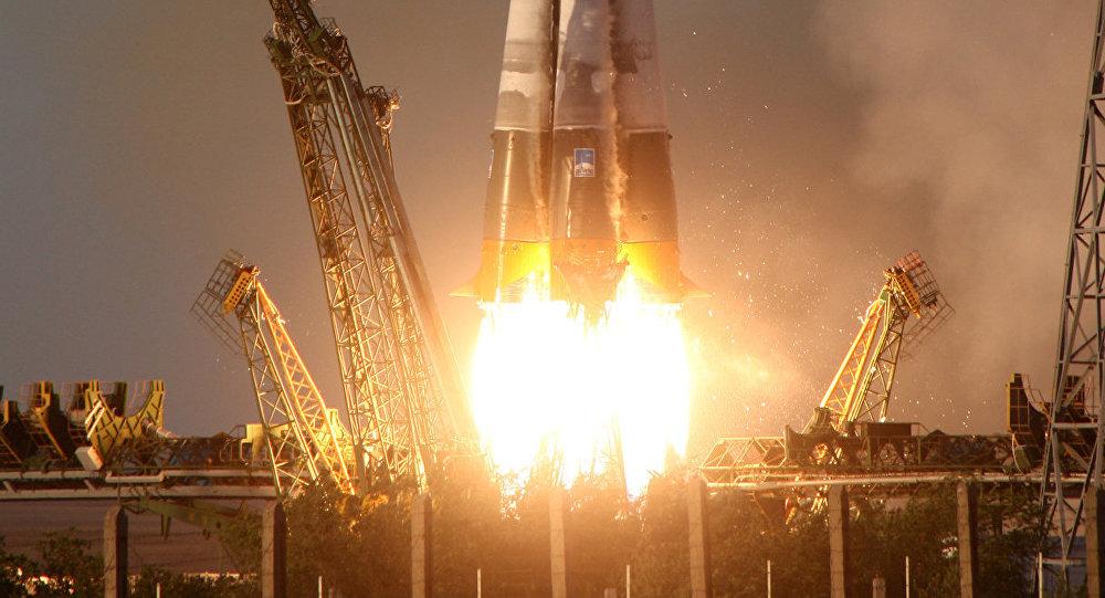 Tir d'un lanceur Soyouz-U avec un cargo Progress