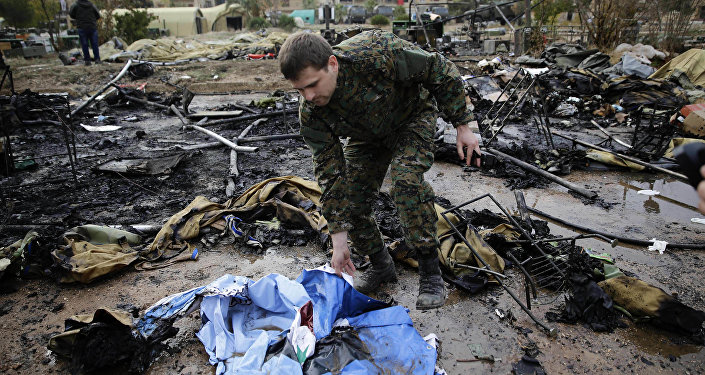 Les conséquences du bombardement d'un hôpital mobile russe à Alep
