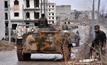 L'armée gouvernementale syrienne à Alep
