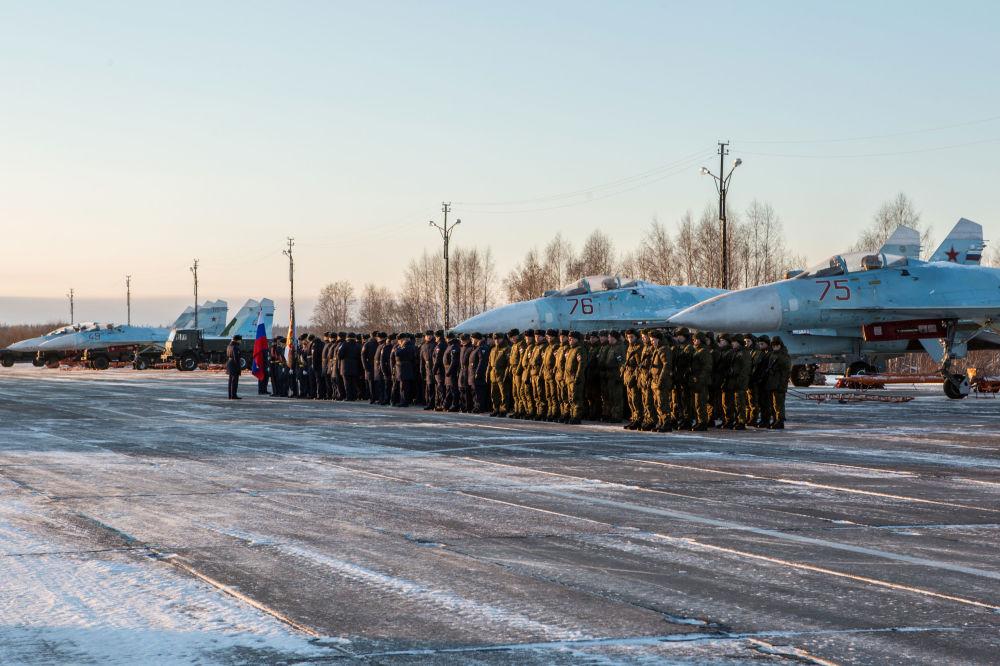 L'aérodrome Besovets le jour de la remise des avions.