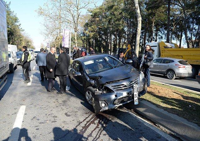 Une voiture du cortège d'Erdogan accidentée, 4 gardes du corps blessés
