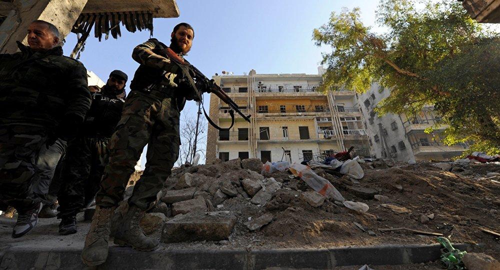 Les troupes gouvernementales syriennes à Alep
