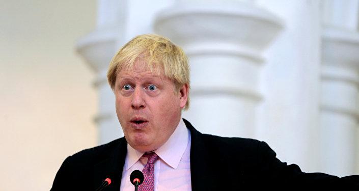 Le ministre britannique des Affaires étrangères Boris Johnson