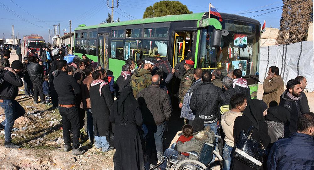 L'évacuation des résidents d'Alep