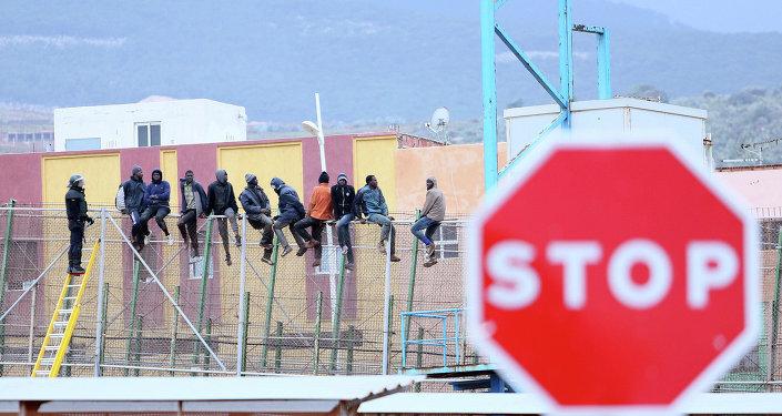 Frontera entre Marruecos y España en Melilla