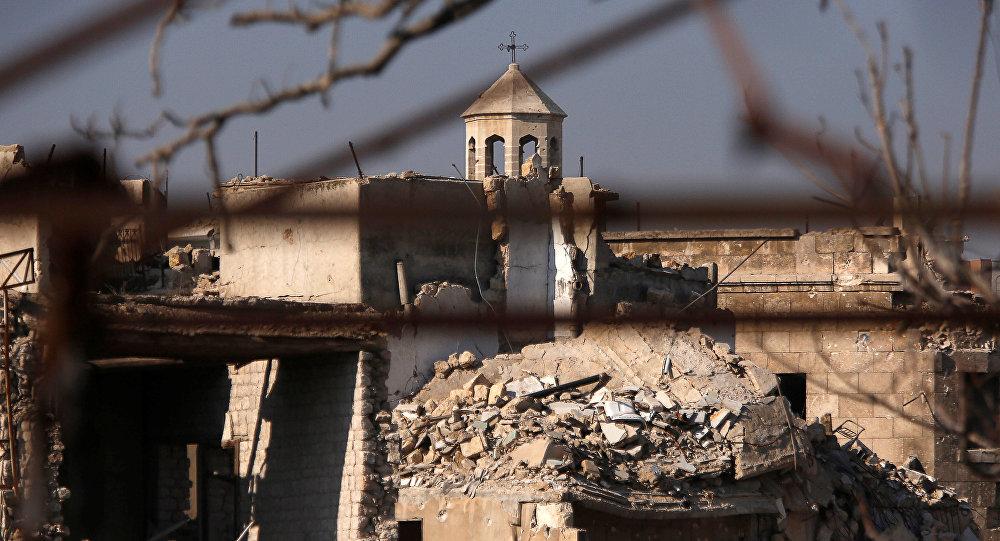 Une église dans la ville syrienne d'Alep
