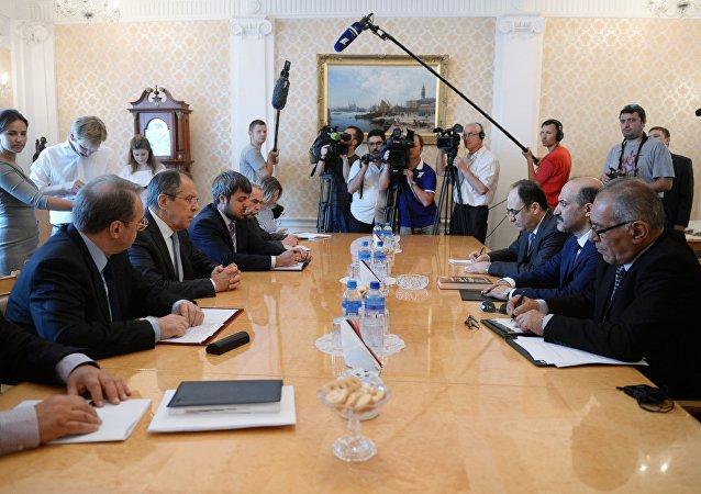 Négociations avec les opposants syriens à Moscou. Archive photo