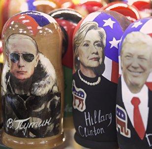 Trump, Poutine, Clinton