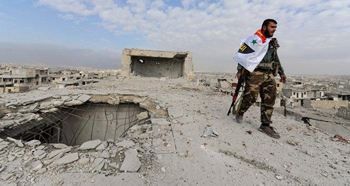 Soldat syrien à Alep, 12 décembre
