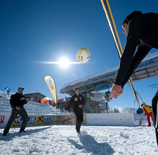 Volley sur neige