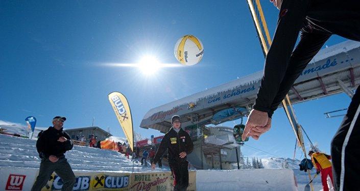 Volley sur neige