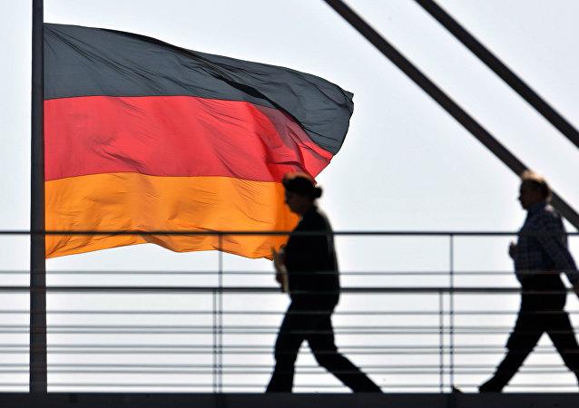 Un drapeau allemand